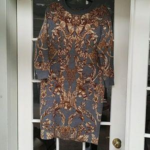 Wool/Silk Alexander McQueen sweater dress, L